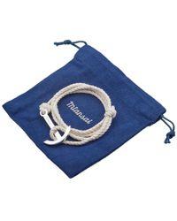 Miansai - White Modern Anchor Rope Bracelet for Men - Lyst