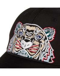 KENZO Black Tiger Canvas Cap for men