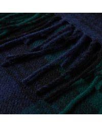 Gloverall - Blue Lambswool Tartan Scarf for Men - Lyst