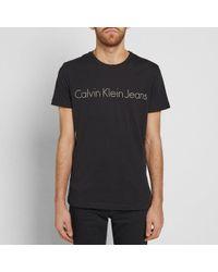 CALVIN KLEIN 205W39NYC - Black Ck Jeans Reissue Tee for Men - Lyst