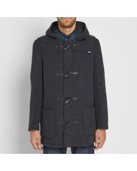 Gloverall - Gray Mid Length Duffle Coat for Men - Lyst
