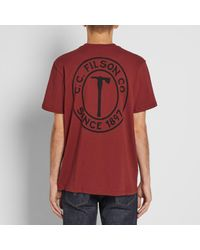 Filson - Red Outfitter Graphic Tee for Men - Lyst