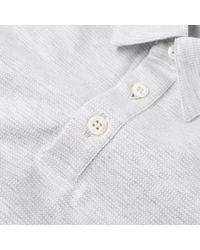 Harris Wharf London - Gray Classic Polo for Men - Lyst