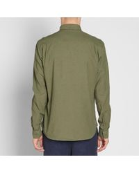 YMC - Green Brooklyn 66 Shirt for Men - Lyst