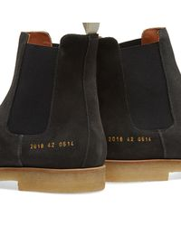 Common Projects | Black Chelsea Boot Suede for Men | Lyst