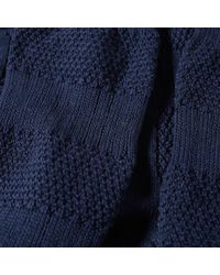 Anonymous Ism - Blue Moss Stitch Crew Sock for Men - Lyst