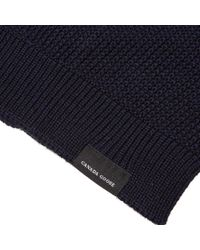 Canada Goose Blue Waffle Slouch Beanie for men