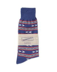 Anonymous Ism - Blue Stripes & Arrow Crew Sock for Men - Lyst