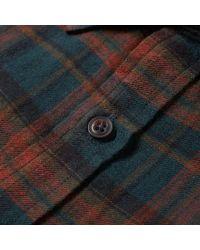 Needles - Blue Tartan Edw Shirt for Men - Lyst