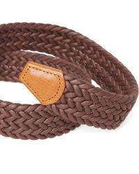 Andersons - Brown Anderson's Waxed Canvas Woven Belt for Men - Lyst