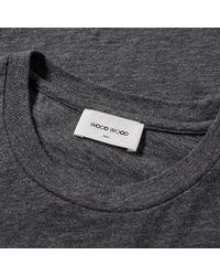 WOOD WOOD | Gray Slater Logo Slub Tee for Men | Lyst