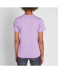 Play Comme des Garçons - Purple Comme Des Garcons Play Women's Colour Series Logo Tee - Lyst