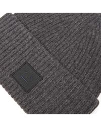 Acne - Gray Pansy L Face Beanie for Men - Lyst