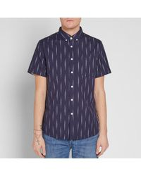 Saturdays NYC - Blue Short Sleeve Esquina Eclat Shirt for Men - Lyst