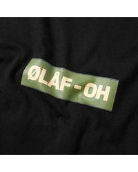 Olaf Hussein - Black Ølåf-oh Tee for Men - Lyst