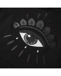 KENZO - Black Eye Hoodie for Men - Lyst