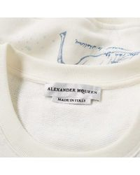 Alexander McQueen - White Letters From India Sweatshirt for Men - Lyst