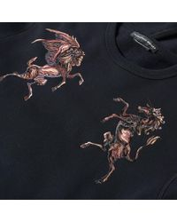 Alexander McQueen - Black Pegasus Embroidered Sweat for Men - Lyst