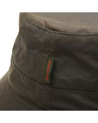Barbour - Green Wax Sports Hat for Men - Lyst