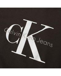 CALVIN KLEIN 205W39NYC - Black Ck Reissue Crew Sweat for Men - Lyst