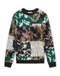Gosha Rubchinskiy - Blue Camo Jacquard Knit for Men - Lyst