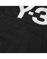 Y-3 Black Stacked Logo Popover Hoody for men