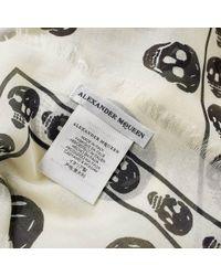 Alexander McQueen - White Skull Scarf for Men - Lyst