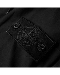 Stone Island - Black Ghost Concealed Hooded Bomber for Men - Lyst