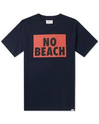 WOOD WOOD - Blue No Beach Tee for Men - Lyst