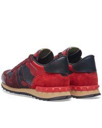 Valentino - Red Rockrunner Sneaker - Lyst