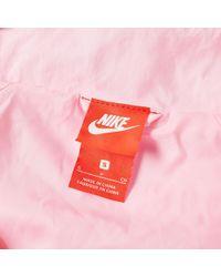 Nike - Pink Swoosh Half Zip Woven Jacket - Lyst