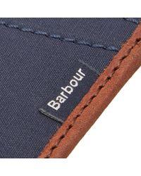 Barbour - Green Drywax Card Holder for Men - Lyst