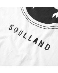 Soulland - White Ribbon Tee for Men - Lyst