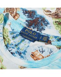 Polo Ralph Lauren - Blue Printed Landscape Pocket Tee for Men - Lyst