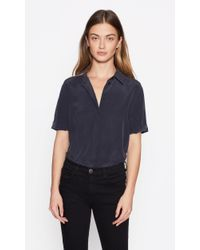 Equipment - Blue Paulette Silk Shirt - Lyst