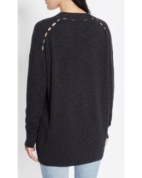 Equipment - Gray Gia Cashmere Cardigan - Lyst