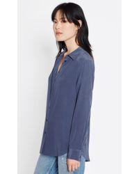 Equipment - Blue Essential Silk Shirt - Lyst