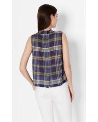 Equipment - Blue Sleeveless Cotton Benton Shirt - Lyst