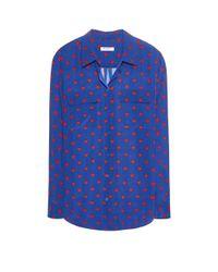 Equipment - Blue Slim Signature Silk Shirt - Lyst