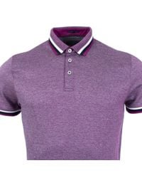 Ted Baker - Purple Bates Polo for Men - Lyst