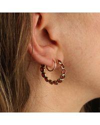 Erica Weiner - Multicolor Garnet Hoop Earrings - Lyst