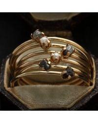 Erica Weiner - Multicolor Diamondz & Pearlz Ring (grey Diamond, 14k Gold) - Lyst