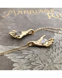 Erica Weiner - Metallic Herkimer Hand Necklace - Lyst