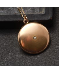 Erica Weiner | Metallic Circle Locket With Paste Necklace | Lyst