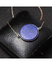Erica Weiner - Blue Lapis Slab Necklace - Lyst