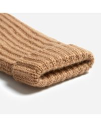 Everlane - Natural The Cashmere Rib Mitten - Lyst