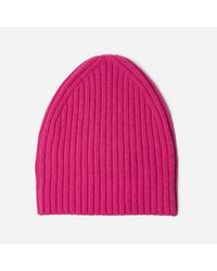 Everlane - Pink The Wool-cashmere Beanie - Lyst