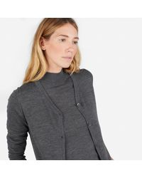 Everlane - Gray The Luxe Wool Cardigan - Lyst