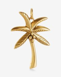 Express - Metallic Sequin Matte Gold Palm Tree Charm - Lyst