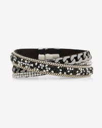 Express | Black Twist Bead Bracelet | Lyst
